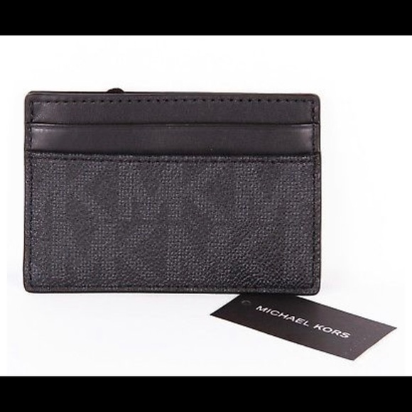 d55941c5fd3e92 Michael Kors Accessories | Jet Set Card Holder Case Money Clip ...